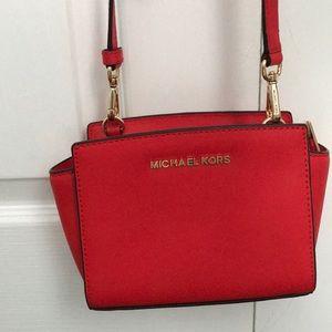 Michael Kors Selma mini crossbody bag like new